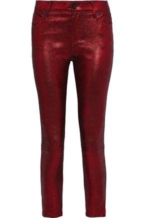 RTA Prince metallic leather skinny pants