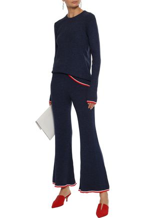 BY MALENE BIRGER Trequenci ribbed-knit flared pants