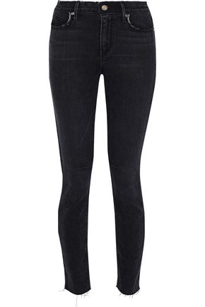RTA Distressed high-rise skinny jeans