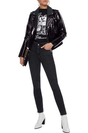 RTA Distressed high-rise skinny jeans