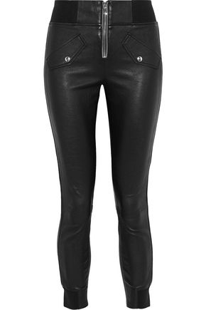 RTA Cropped leather skinny pants