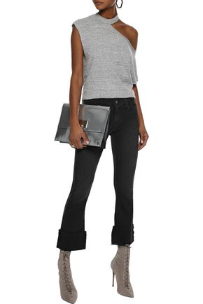 RTA Duchess cropped mid-rise flared jeans