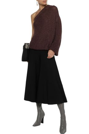 Stella Mccartney Woman Oliver Stretch-Knit Culottes Black