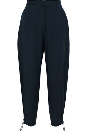 STELLA McCARTNEY Wool and mohair-blend tapered pants