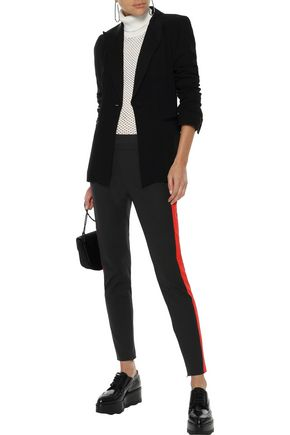 STELLA McCARTNEY Cotton-blend cady slim-leg pants