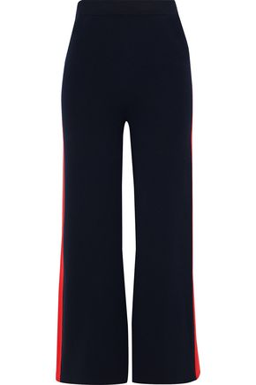 STELLA McCARTNEY Striped cotton-jersey wide-leg pants