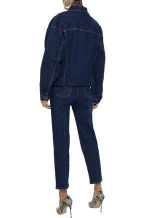 STELLA McCARTNEY Cropped high-rise slim-leg jeans