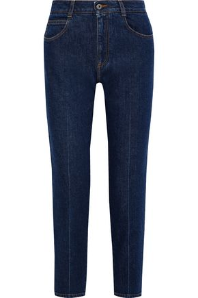 STELLA McCARTNEY Cropped high-rise slim-leg jeans