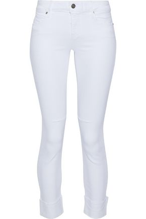 RTA Nova cropped cotton-blend twill skinny pants