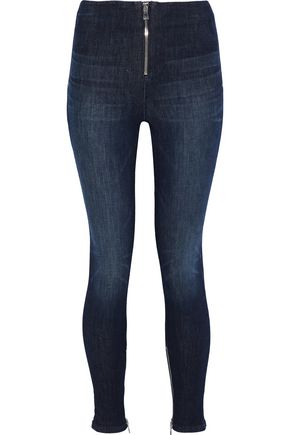 RTA Zip-detailed mid-rise skinny jeans