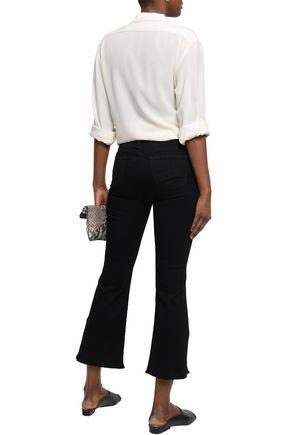 J BRAND Frayed high-rise kick-flare jeans