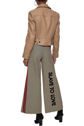 EACH X OTHER Flocked houndstooth cotton wide-leg pants