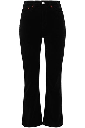 RE/DONE Velvet bootcut pants