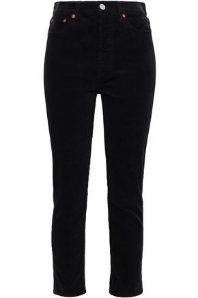 RE/DONE Cotton-blend corduroy slim-leg pants