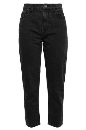 CURRENT/ELLIOTT Cropped high-rise slim-leg jeans
