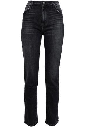 CURRENT/ELLIOTT The Stovepipe Torpedo high-rise slim-leg jeans