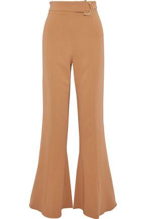 CUSHNIE Belted crepe flared pants