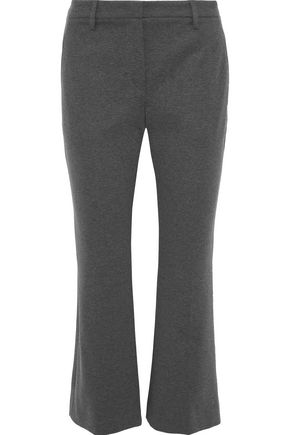 BRUNELLO CUCINELLI Mélange stretch-cotton kick-flare pants