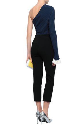CUSHNIE Cropped stretch-knit skinny pants