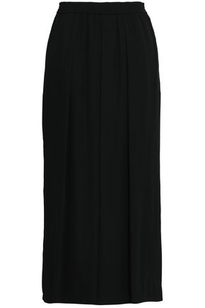 REBECCA MINKOFF Krista pleated crepe wide-leg pants