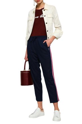 REBECCA MINKOFF Striped stretch-knit track pants