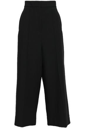 TIBI Pintucked crepe wide-leg pants