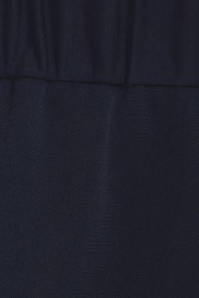 TIBI Stretch-piqué track pants