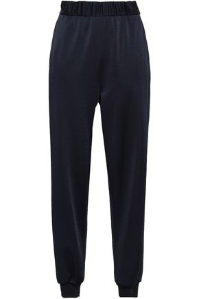 TIBI Stretch-piqué track pants