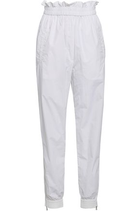 TIBI Crinkled shell track pants