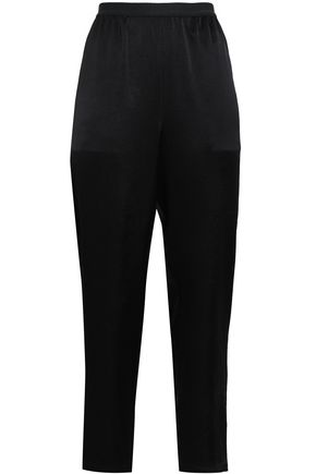 T by ALEXANDER WANG Satin straight-leg pants