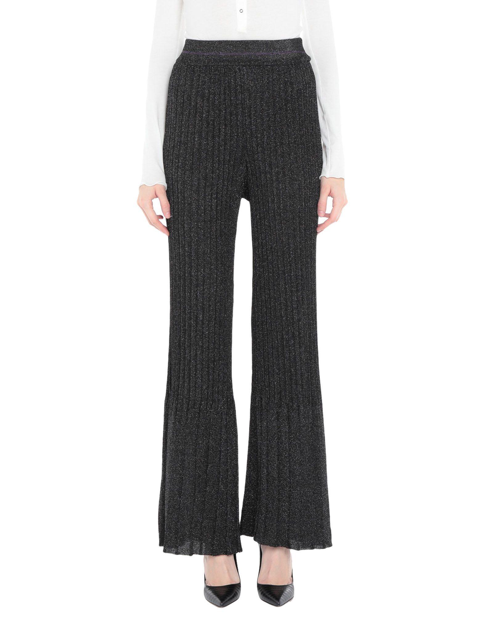《セール開催中》VICOLO レディース パンツ ブラック one size レーヨン 70% / 金属化ポリエステル 15% / ポリエステル 15%