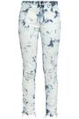 ALEXANDER WANG Distressed bleached mid-rise skinny jeans