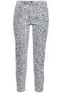 CURRENT/ELLIOTT The Stiletto leopard-print mid-rise skinny jeans