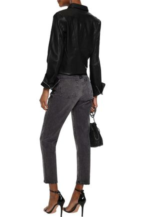 IRO Cropped distressed mid-rise skinny jeans