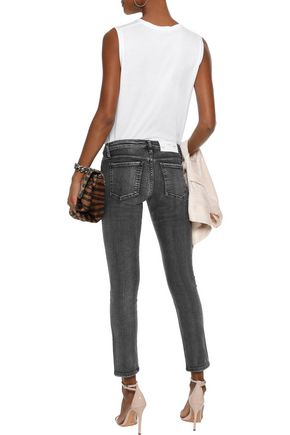 IRO Faded low-rise skinny jeans