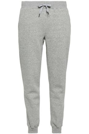 REBECCA MINKOFF Nora mélange cotton-blend fleece track pants