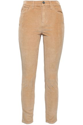 CURRENT/ELLIOTT Stretch cotton and modal-blend corduroy skinny pants