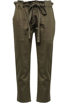 CURRENT/ELLIOTT The Tabloid stretch-cotton tapered pants