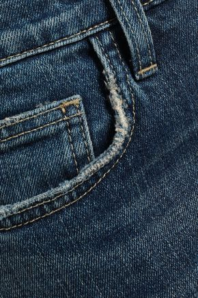 CURRENT/ELLIOTT Faded mid-rise flared jeans