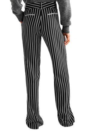 EQUIPMENT Lita striped washed-silk wide-leg pants