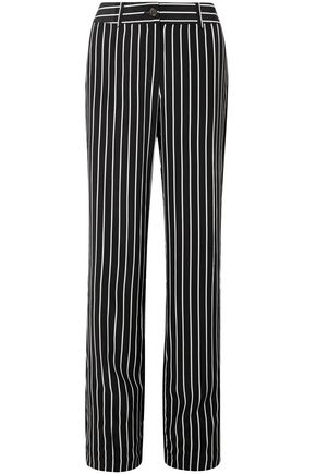 EQUIPMENT Lisa striped washed-silk wide-leg pants