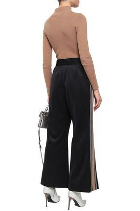 MARC JACOBS Striped satin-crepe track pants