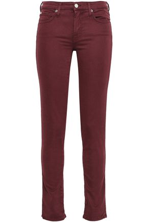 7 FOR ALL MANKIND Washed-twill slim-leg pants
