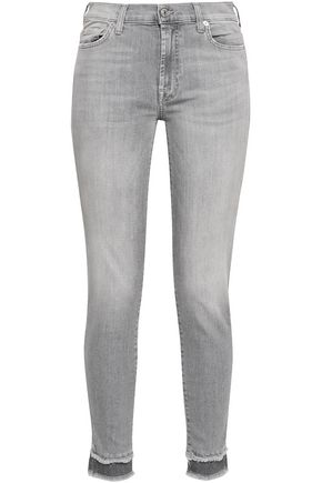 7 FOR ALL MANKIND Faded mid-rise skinny jeans
