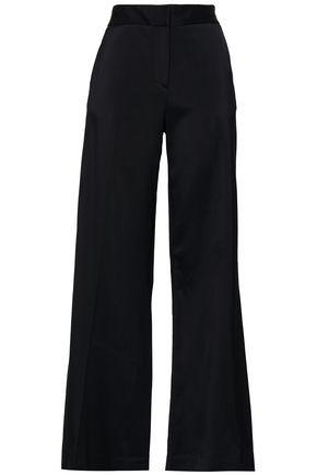 OSCAR DE LA RENTA Crepe wide-leg pants