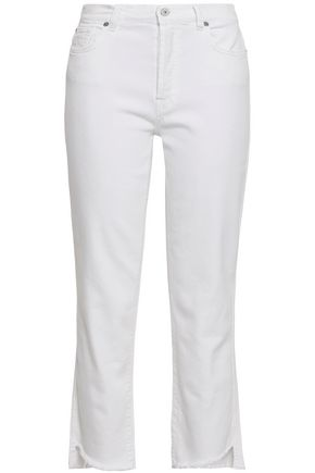 7 FOR ALL MANKIND Cropped high-rise straight-leg jeans