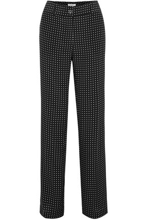 EQUIPMENT Lita polka-dot silk-twill wide-leg pants