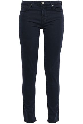 7 FOR ALL MANKIND Stretch-twill slim-leg pants