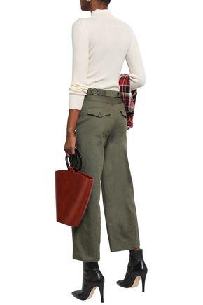 RAG & BONE Lora belted cotton-twill wide-leg pants