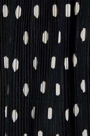 ZIMMERMANN Polka-dot plissé-chiffon culottes